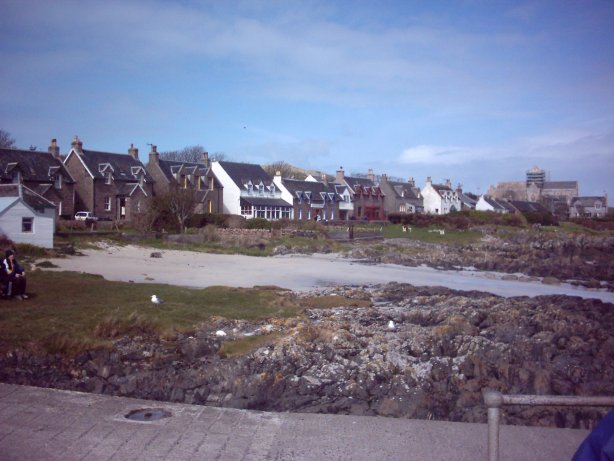 A view of the village that is on Iona